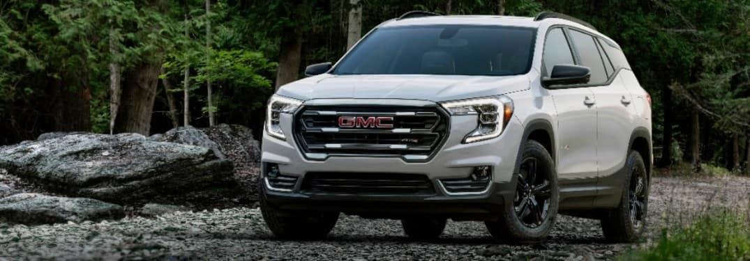 2022 GMC AT4 with rocks in the background