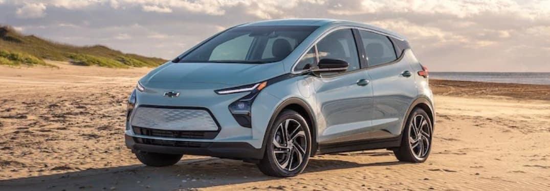 2022 Chevrolet Bolt EV on sand