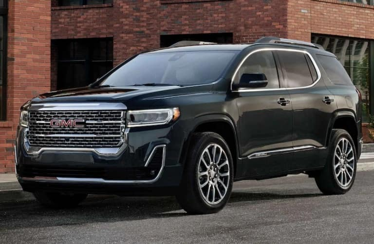 2022 GMC Acadia on the side of the road