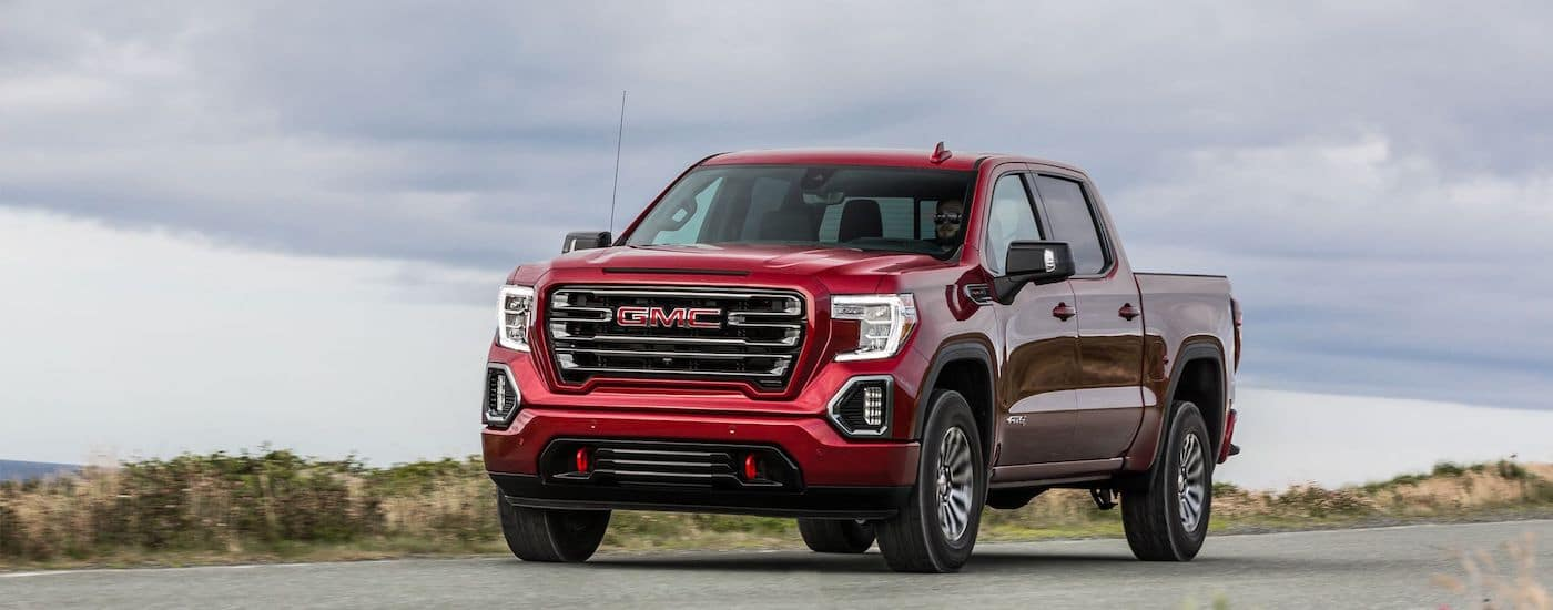 2019 GMC Sierra Performance Driving in Red