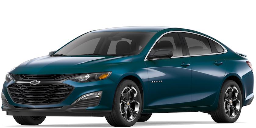Blue 2019 Chevy Malibu
