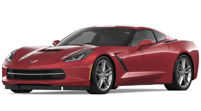 Dark red 2019 Chevrolet Corvette Stingray on white