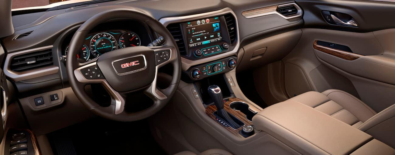 The luxurious interior if a 2019 GMC Acadia Denali