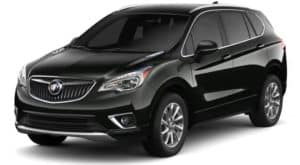 Black 2019 Buick Envision on white
