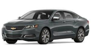 Gray 2019 Chevy Impala on white