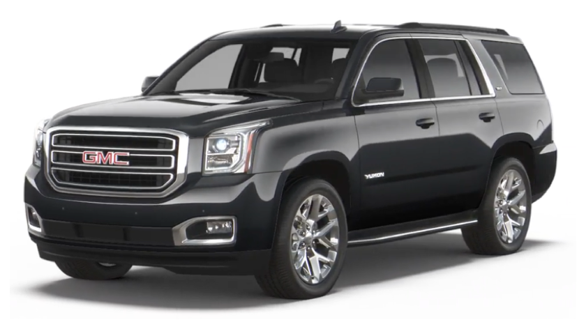 Black 2019 GMC Yukon XL on white
