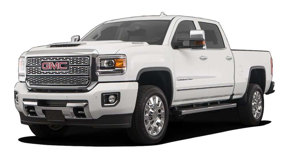 White 2019 GMC Sierra 2500HD White Background