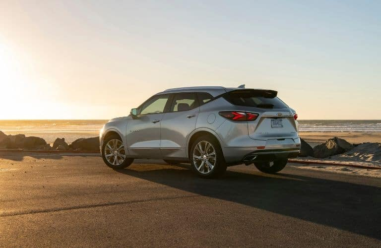 silver 2019 Chevy Blazer looking out over the ocean