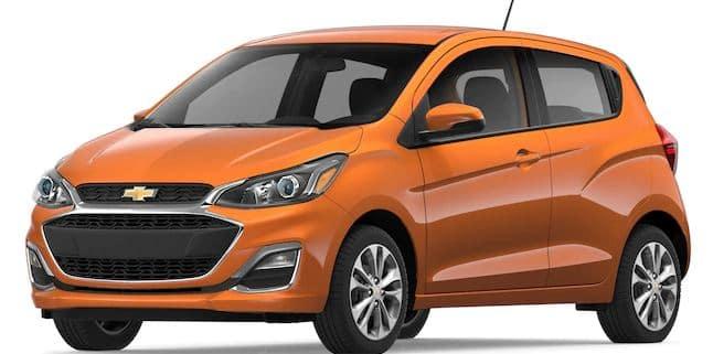2019 Chevy Spark in Orange Burst Metallic