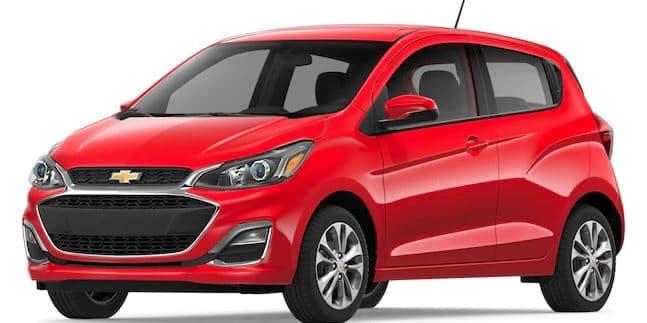 2019 Chevy Spark in Red Hot