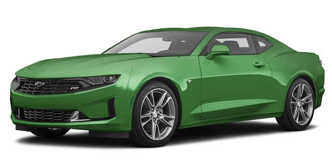 2020 Chevrolet Camaro Rally Green Metallic Color