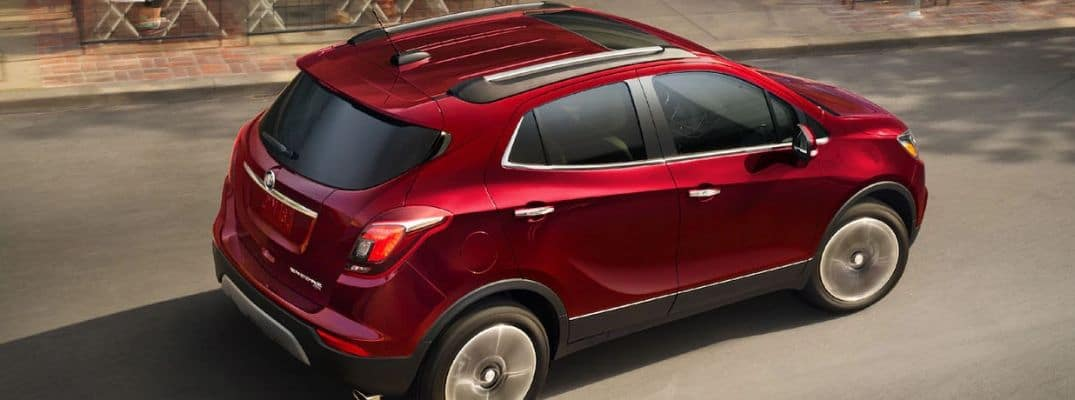 Red 2019 Buick Encore driving