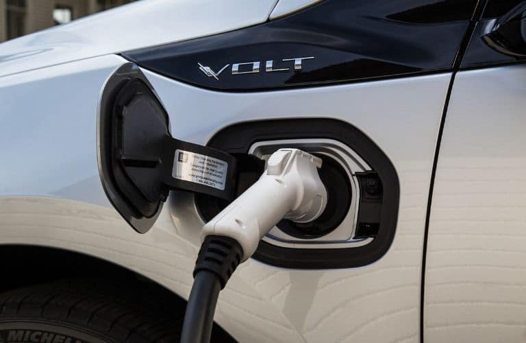 Closeup of 2019 Chevrolet Volt Charging