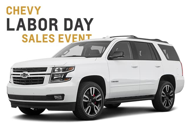 Chevy Labor Day Sales Event Tahoe