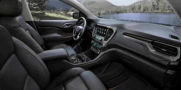 Interior view of 2020 GMC Acadia