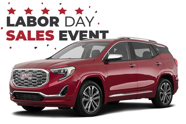GMC Labor Day Sales Event Terrain