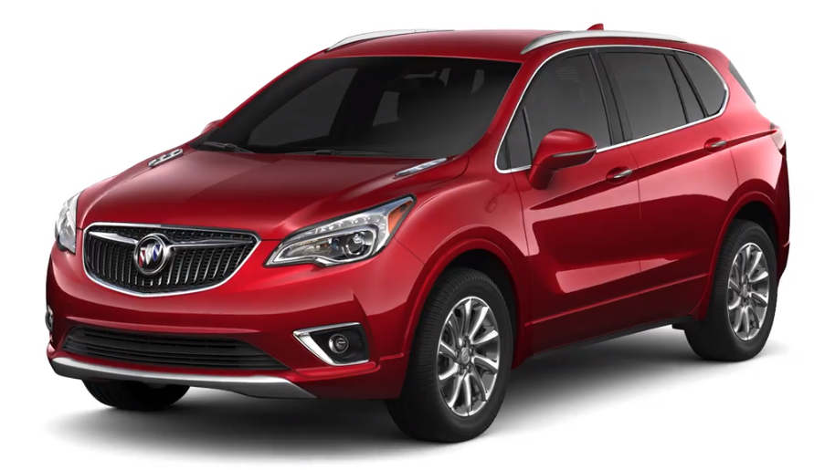 2019 Buick Envision in Chili Red Metallic