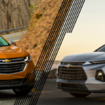 Orange 2019 Chevrolet Equinox and silver 2019 Chevrolet Blazer