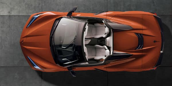 Overhead view of 2020 Chevrolet Corvette Convertible