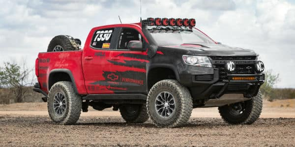 Red and black 2021 Chevrolet Colorado