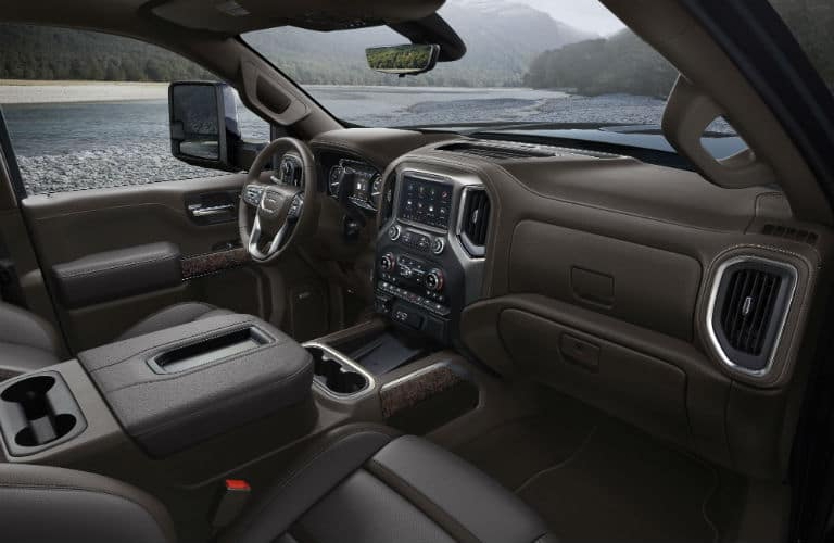 Interior view of 2020 GMC Sierra 3500HD