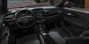 Interior view of 2021 Chevrolet Trailblazer RS