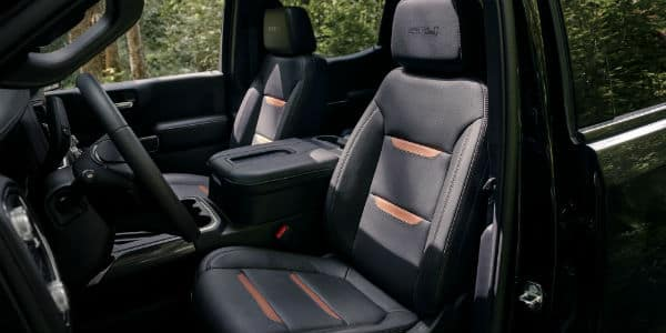 Front seating in 2020 GMC Sierra 1500 AT4
