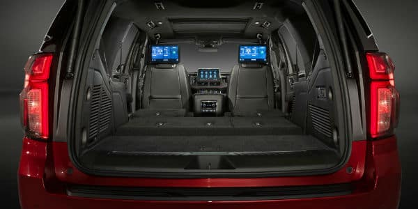 Interior view of 2021 Chevrolet Tahoe trunk