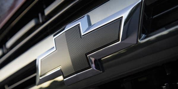 Closeup of Chevrolet logo on 2021 Chevrolet Tahoe