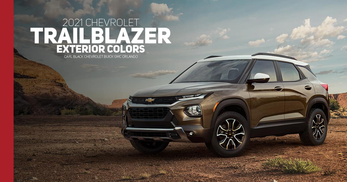 2021 Chevrolet Trailblazer Color Options - Carl Black Orlando