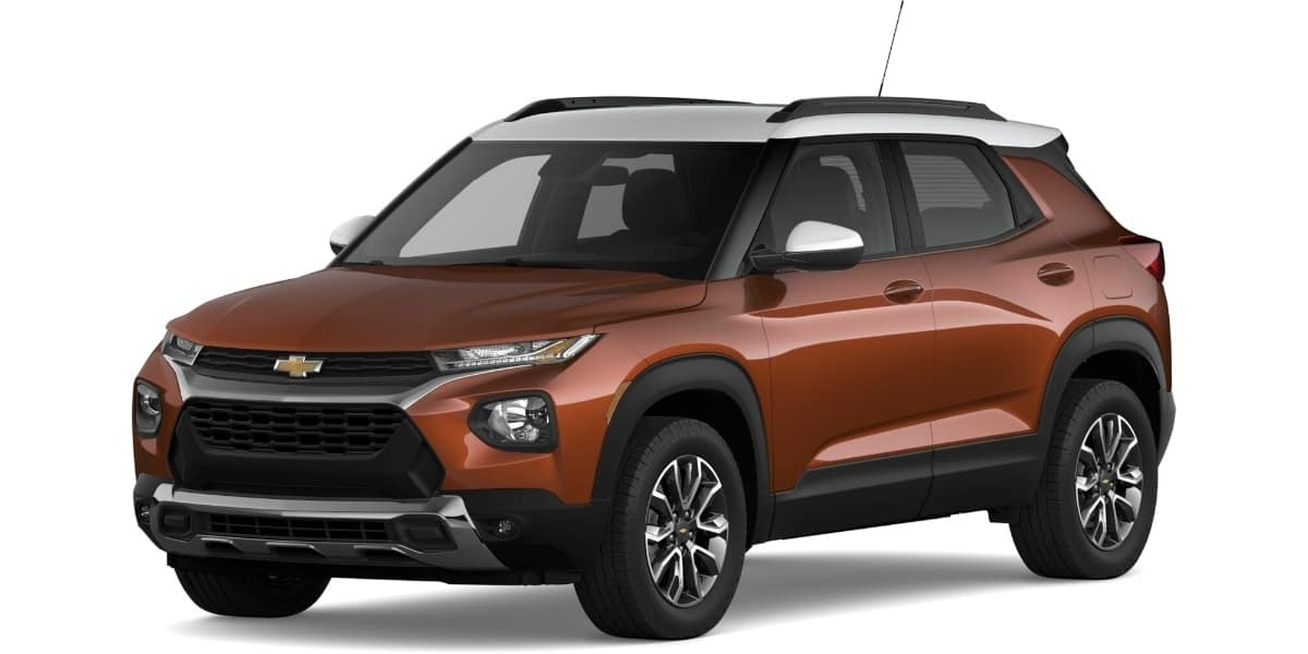 2021 Chevrolet Trailblazer Dark Copper Metallic Summit White Roof Color