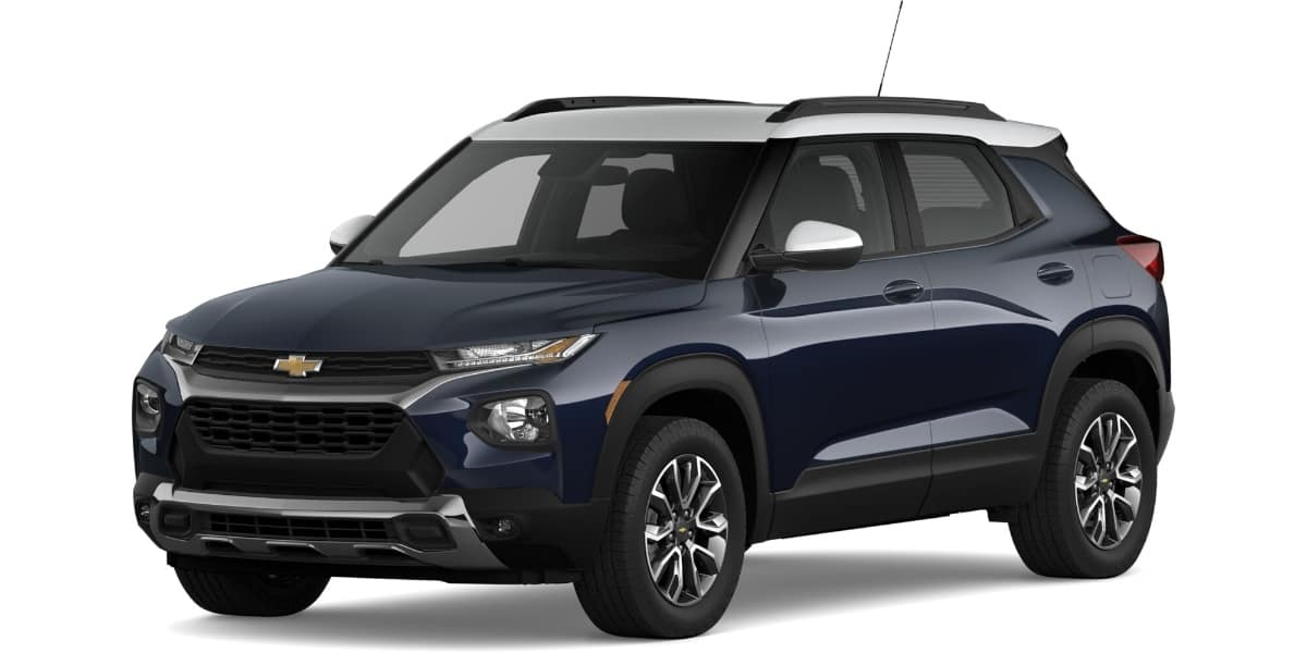 2021 Chevrolet Trailblazer Midnight Blue Metallic Summit White Roof Color