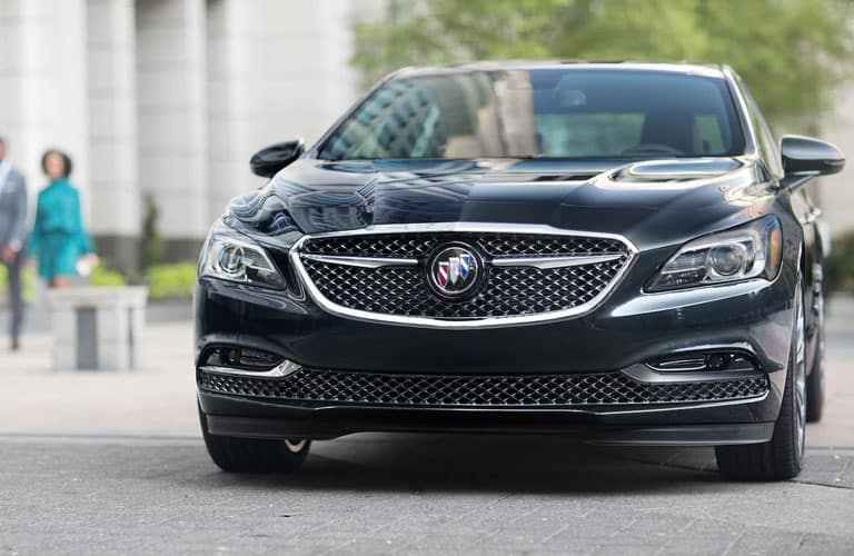 Head-on front fascia view of a 2019 Buick LaCrosse.