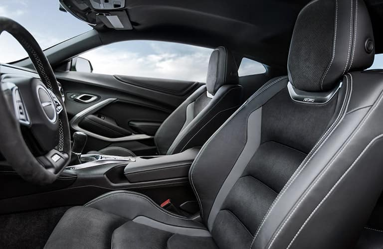 Interior front cabin of the 2020 Chevy Camaro