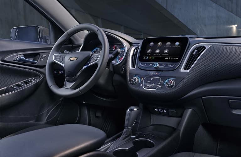 Interior front cabin of a 2020 Chevy Malibu