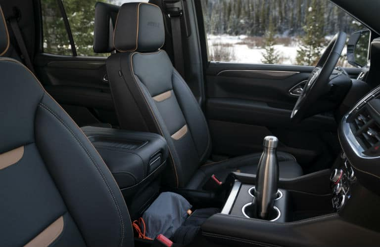 Interior front seat of the 2021 GMC Yukon AT4