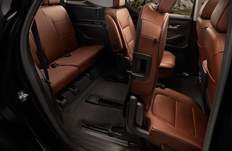 Interior seats of a 2020 Chevy Traverse