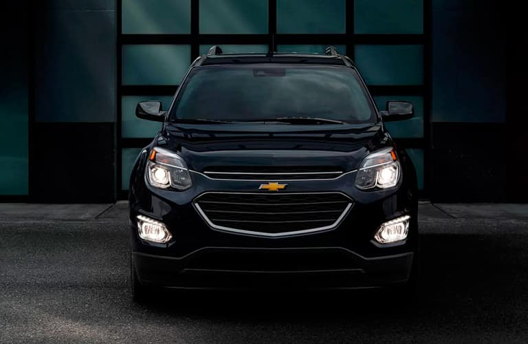 2017 Chevy Equinox in some kind of garage