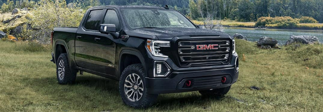 2020 GMC Sierra in black color parked outside somewhere