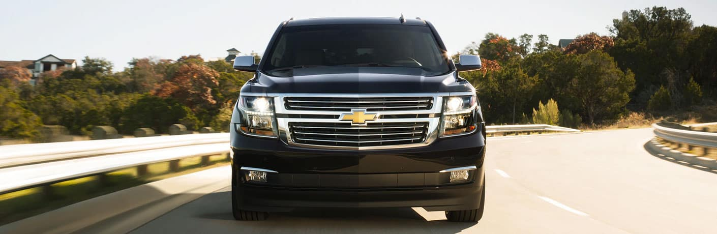 Head-on view of a 2020 Chevy Suburban