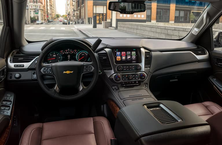 Front cockpit of a 2020 Chevy Suburban