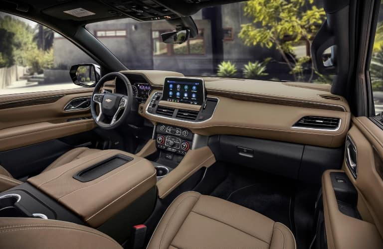 Interior front cabin of a 2021 Chevy Suburban