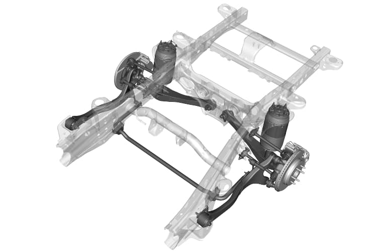 Independent rear suspension of a 2021 Chevy Suburban