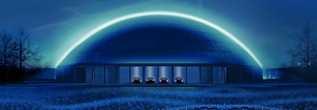 A mysterious dome symbolizes the plans GM holds for their electric future
