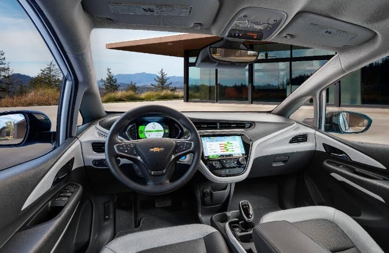 Interior front region of a 2020 Chevy Bolt