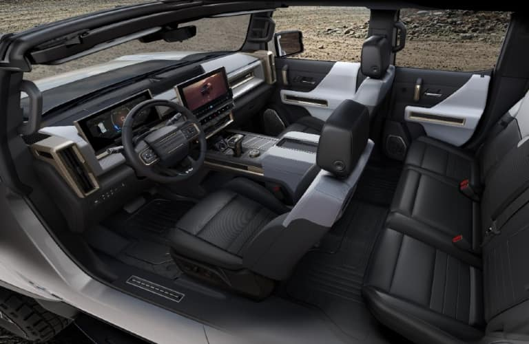 Interior of a 2022 GMC Hummer EV