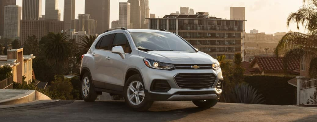 2021 Chevy Trax in a sunny city