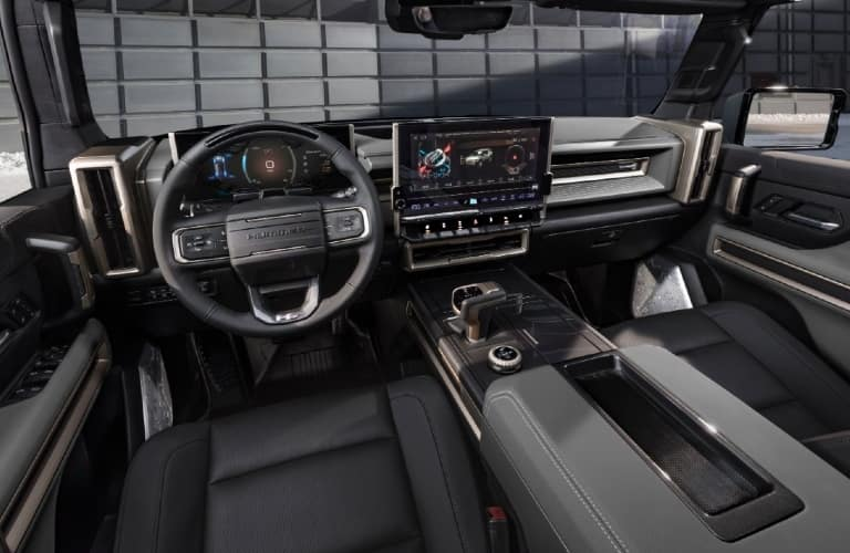 Interior cockpit of a 2024 GMC Hummer EV SUV
