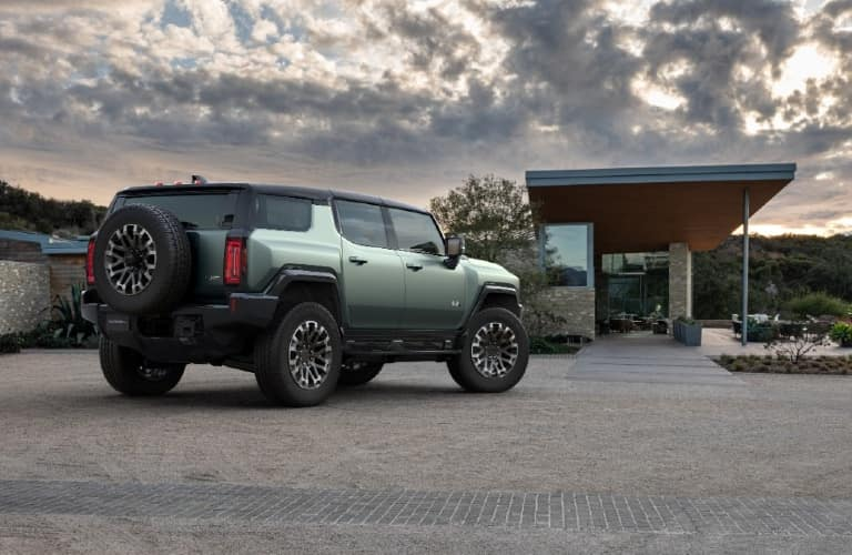2024 GMC Hummer EV SUV rear/side angled view