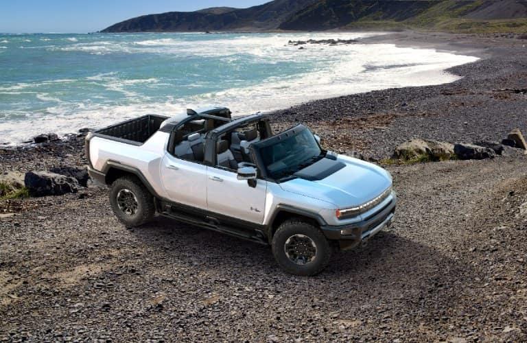 2022 GMC HUMMER EV SUT by the seashore